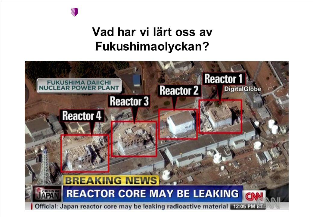 Vad har vi lärt oss av Fukushimaolyckan