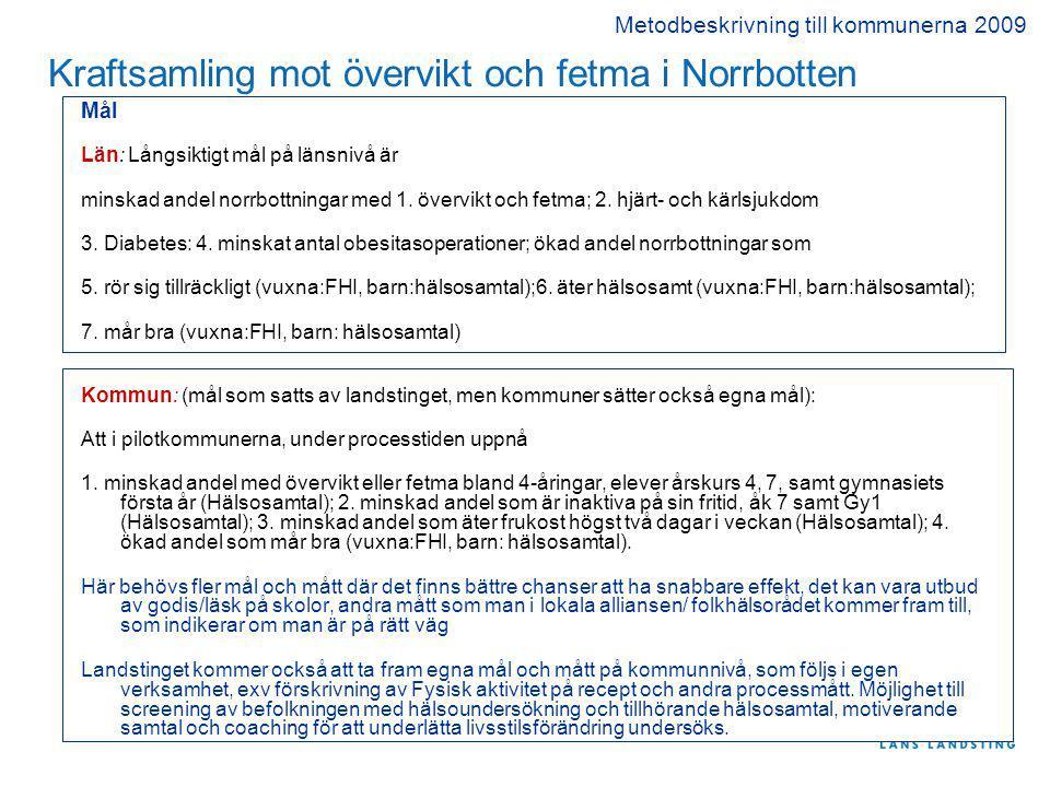 Kraftsamling mot övervikt och fetma i Norrbotten