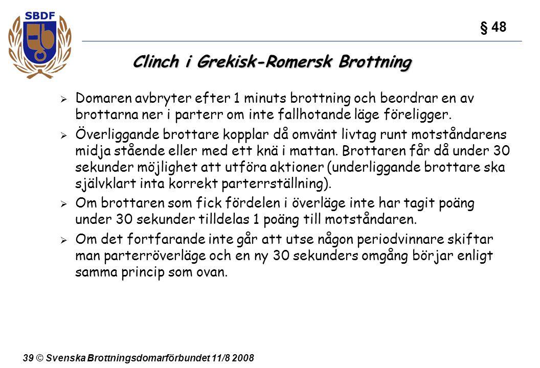 Clinch i Grekisk-Romersk Brottning