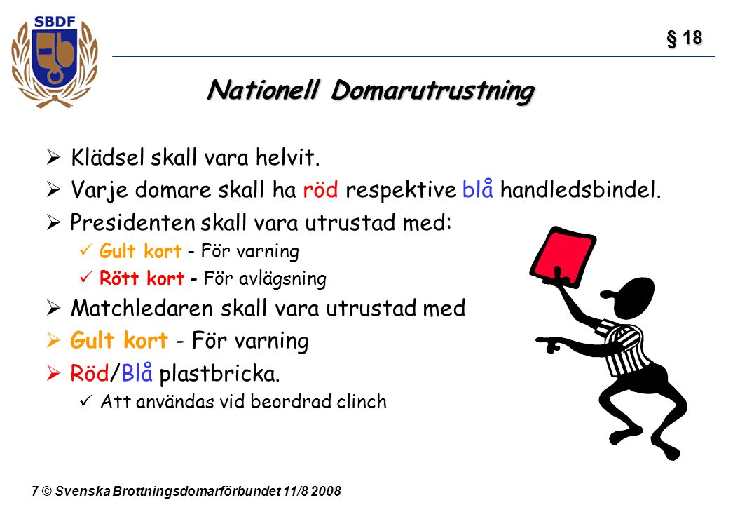 Nationell Domarutrustning