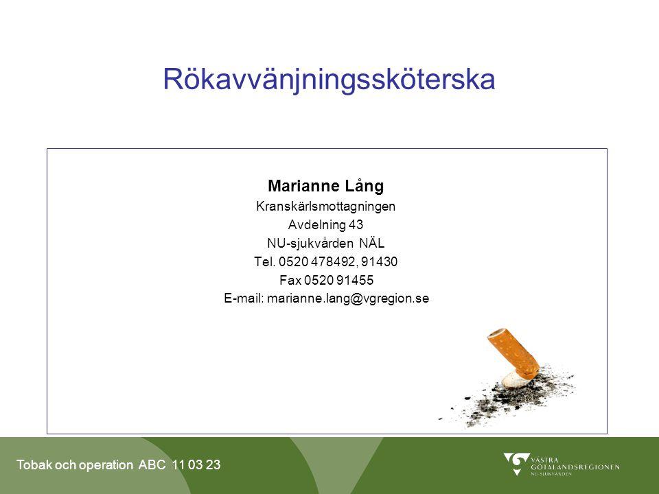 Rökavvänjningssköterska