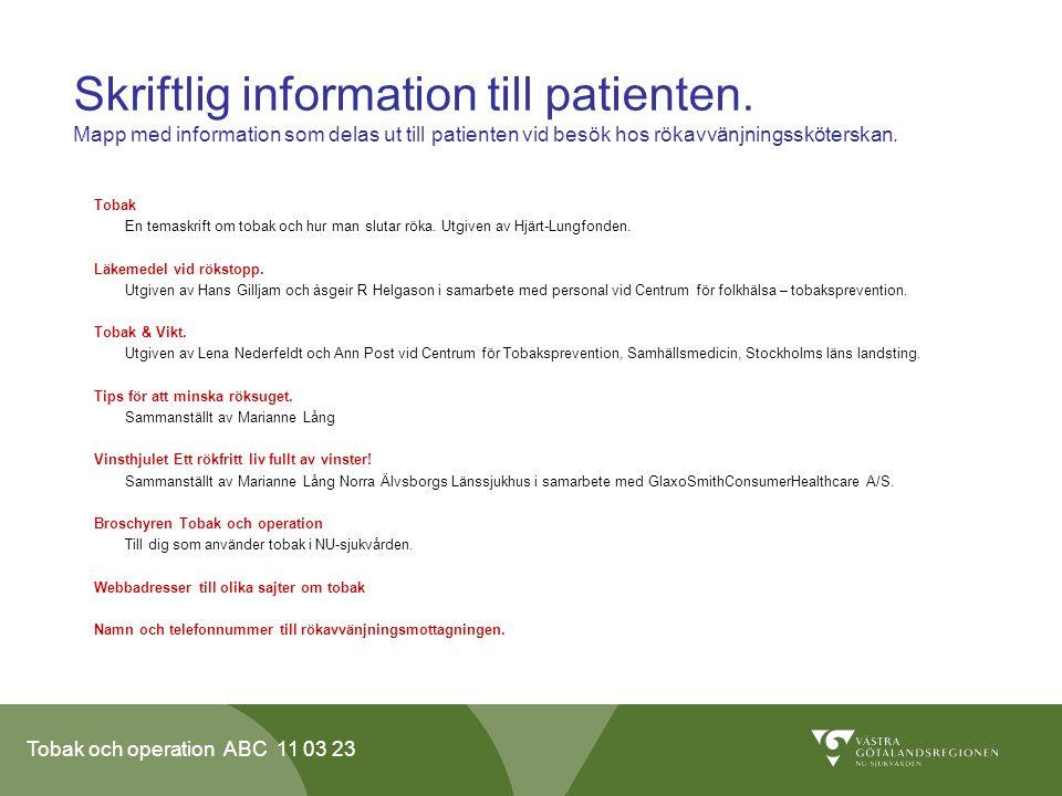 Skriftlig information till patienten