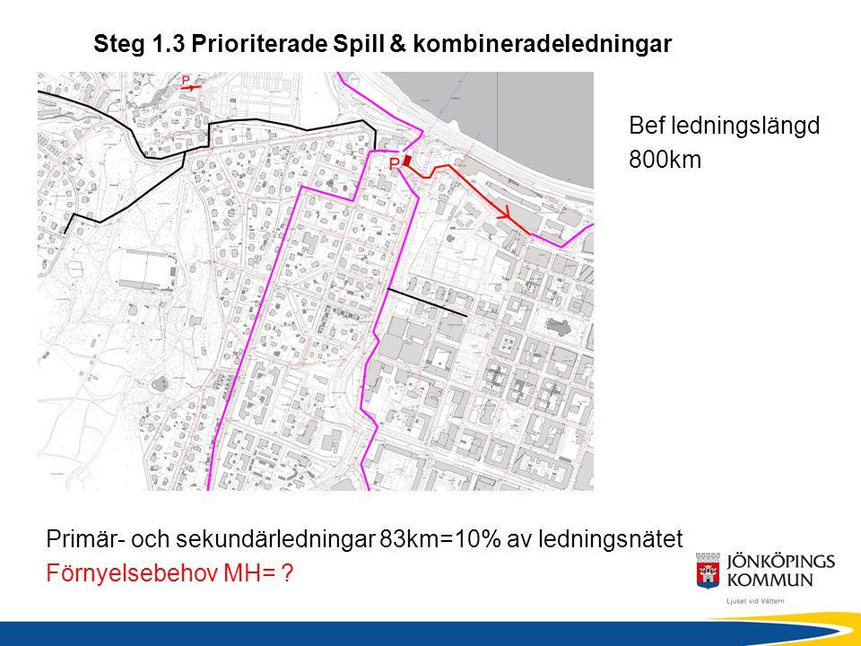 Steg 1.3 Prioriterade Spill & kombineradeledningar