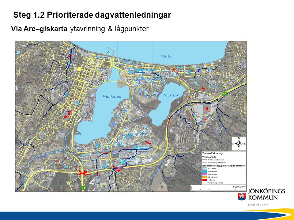 Steg 1.2 Prioriterade dagvattenledningar