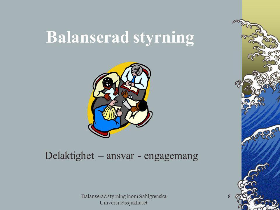 Balanserad styrning inom Sahlgrenska Universitetssjukhuset