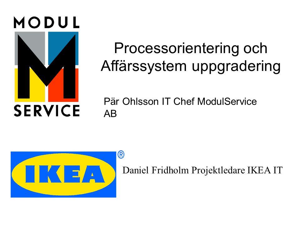 Processorientering och Affärssystem uppgradering
