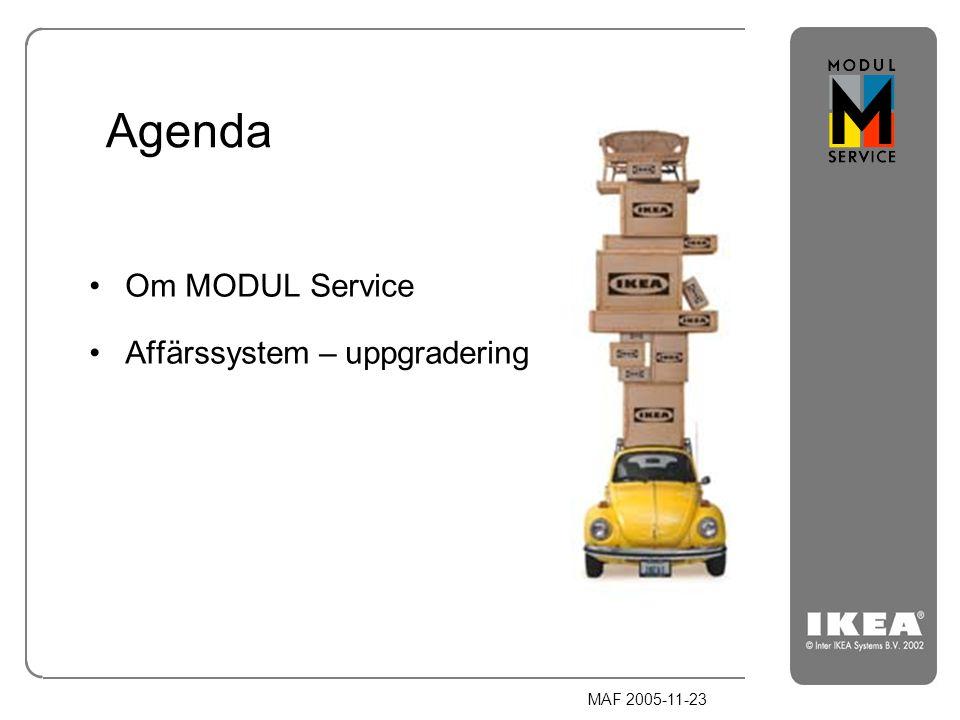 Agenda Om MODUL Service Affärssystem – uppgradering