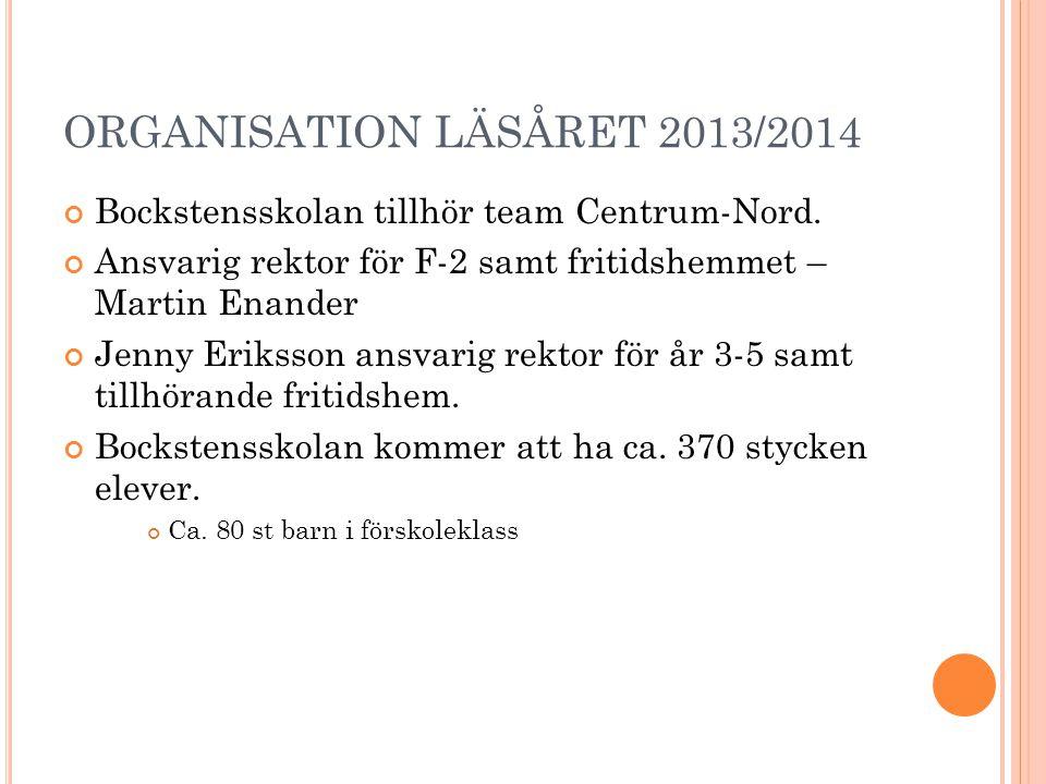 ORGANISATION LÄSÅRET 2013/2014