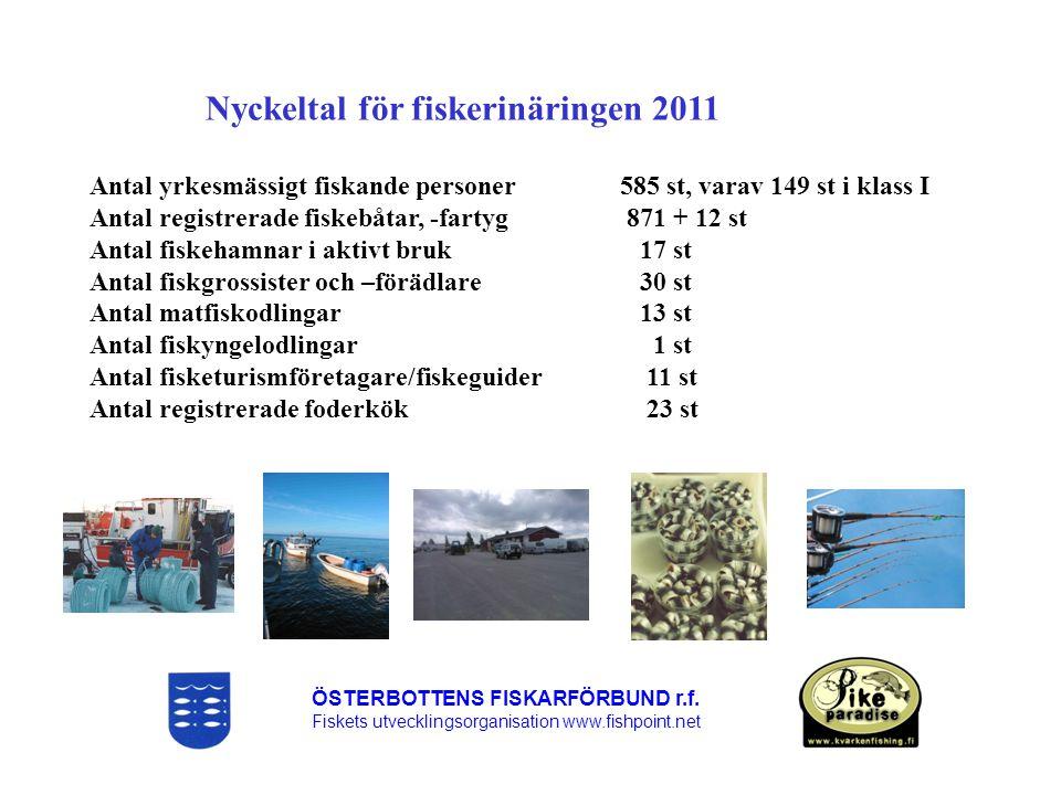 Nyckeltal för fiskerinäringen 2011