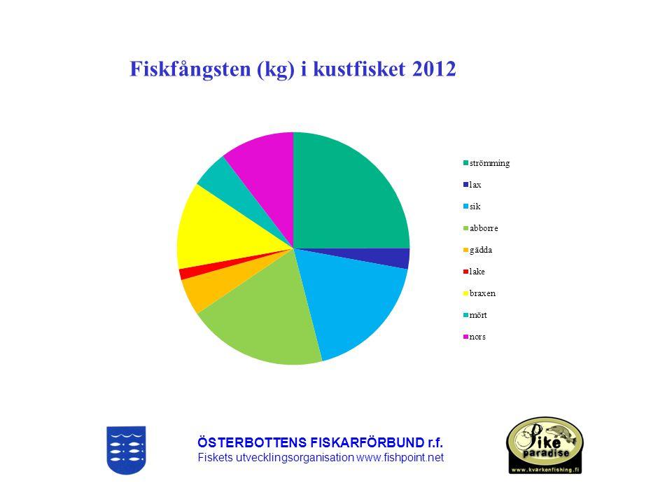 Fiskfångsten (kg) i kustfisket 2012
