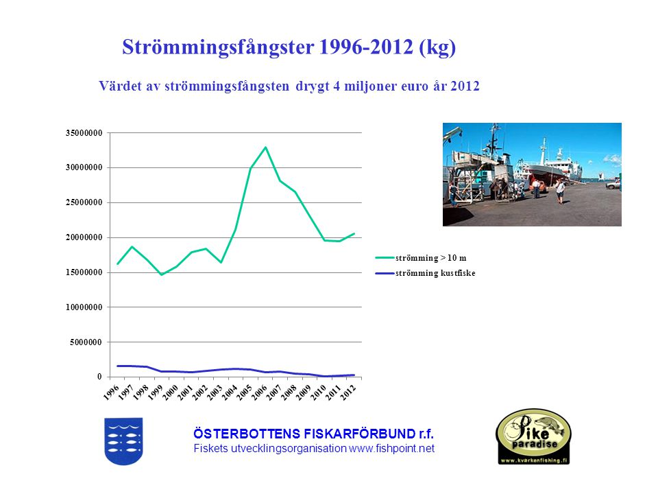 Strömmingsfångster 1996-2012 (kg)