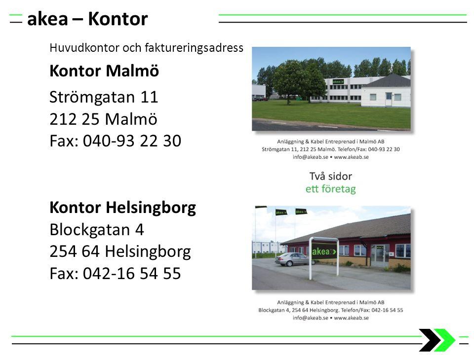 akea – Kontor Kontor Malmö Strömgatan 11 212 25 Malmö