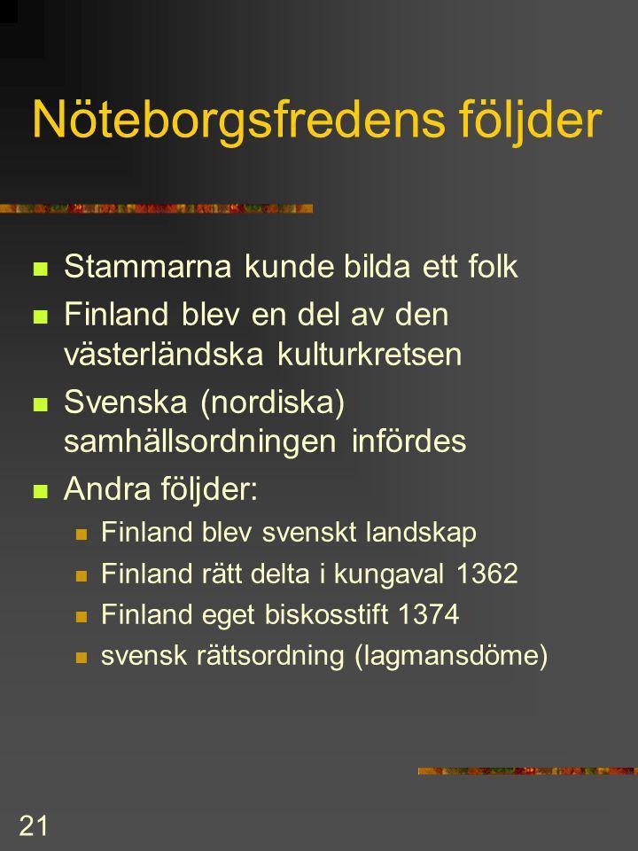 Nöteborgsfredens följder