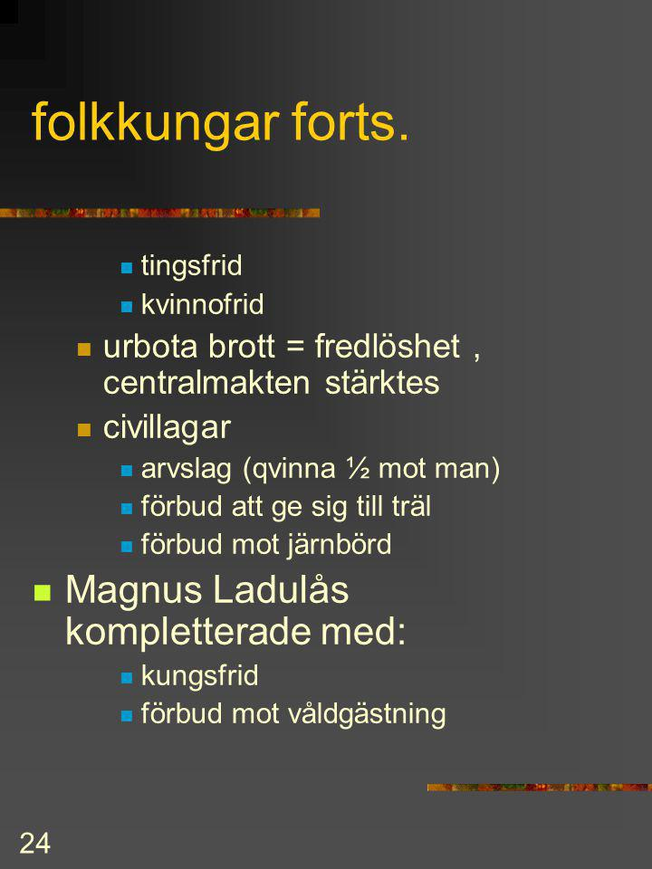 folkkungar forts. Magnus Ladulås kompletterade med: