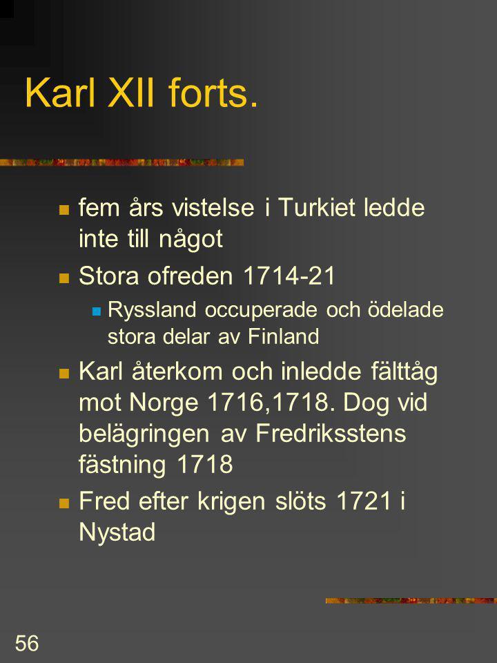 Karl XII forts. fem års vistelse i Turkiet ledde inte till något