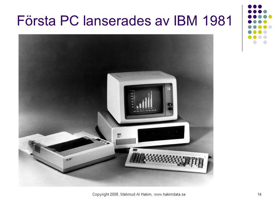 Första PC lanserades av IBM 1981