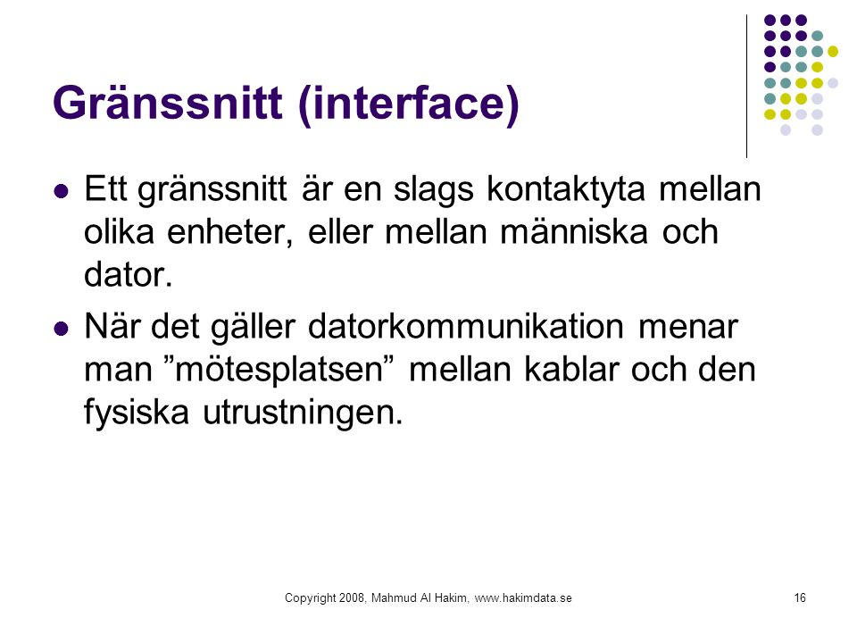 Gränssnitt (interface)
