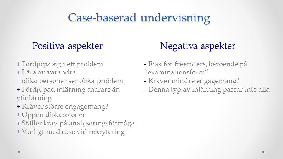 Case-baserad undervisning