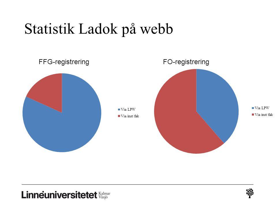 Statistik Ladok på webb
