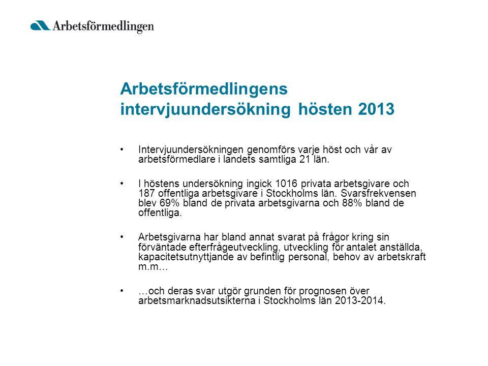 Arbetsförmedlingens intervjuundersökning hösten 2013