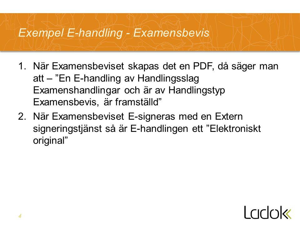 Exempel E-handling - Examensbevis
