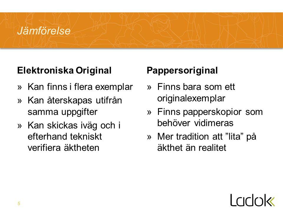 Jämförelse Elektroniska Original Pappersoriginal