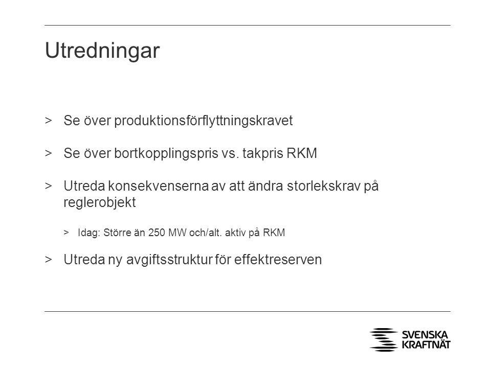 Utredningar Se över produktionsförflyttningskravet