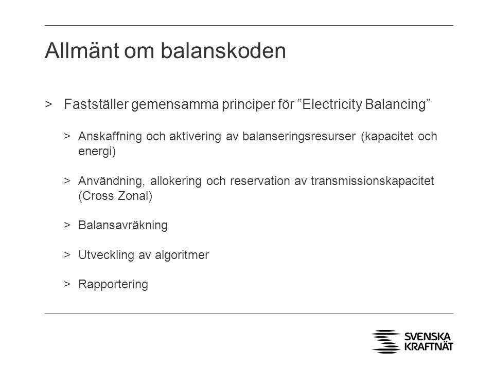Allmänt om balanskoden