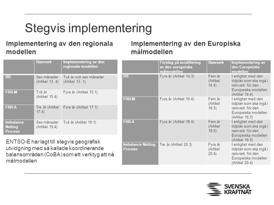 Stegvis implementering