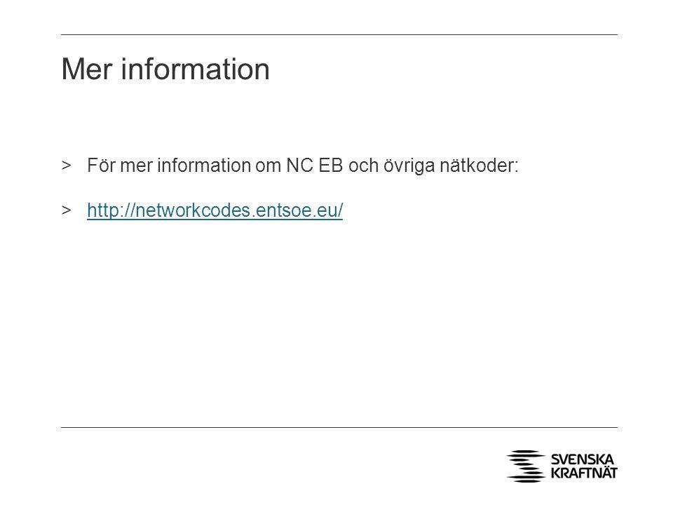 Mer information För mer information om NC EB och övriga nätkoder: