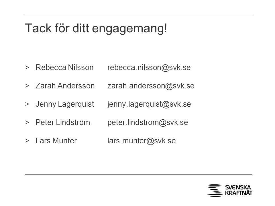Tack för ditt engagemang!