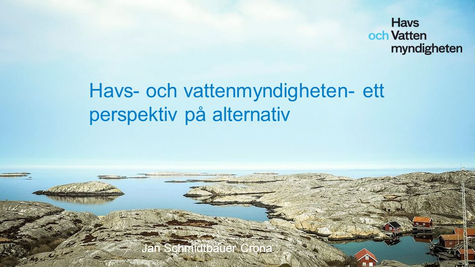 Havs- och vattenmyndigheten- ett perspektiv på alternativ