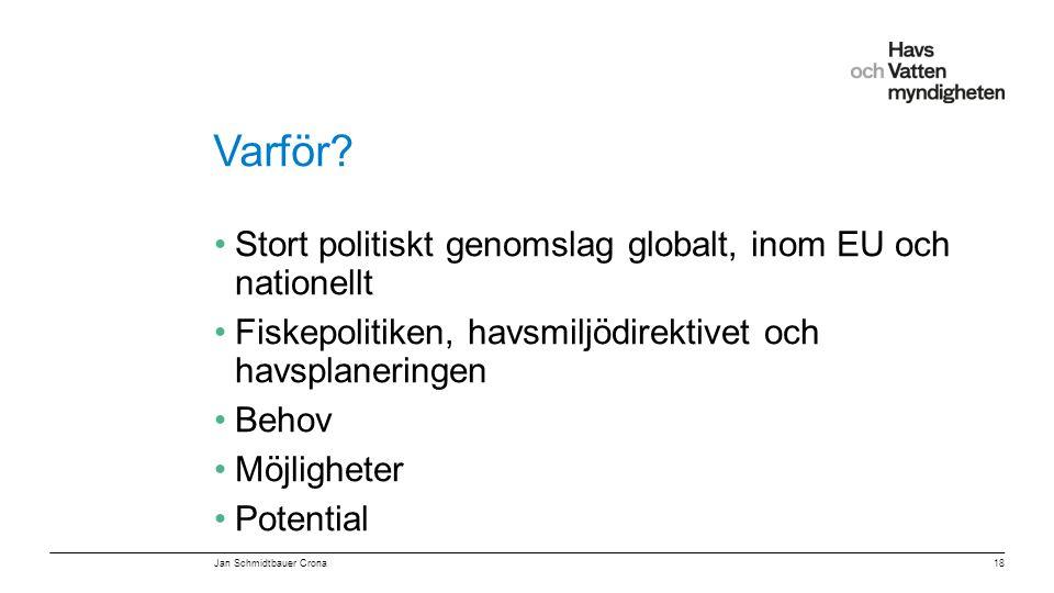 Varför Stort politiskt genomslag globalt, inom EU och nationellt