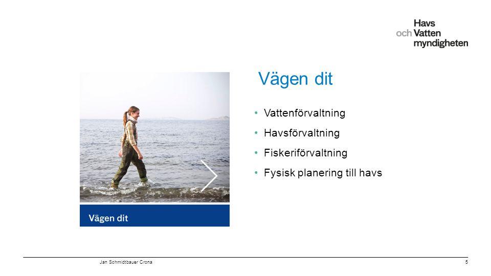 Vägen dit Vattenförvaltning Havsförvaltning Fiskeriförvaltning