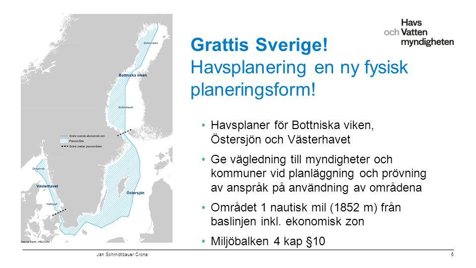 Grattis Sverige! Havsplanering en ny fysisk planeringsform!