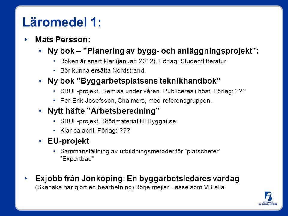 Läromedel 1: Mats Persson: