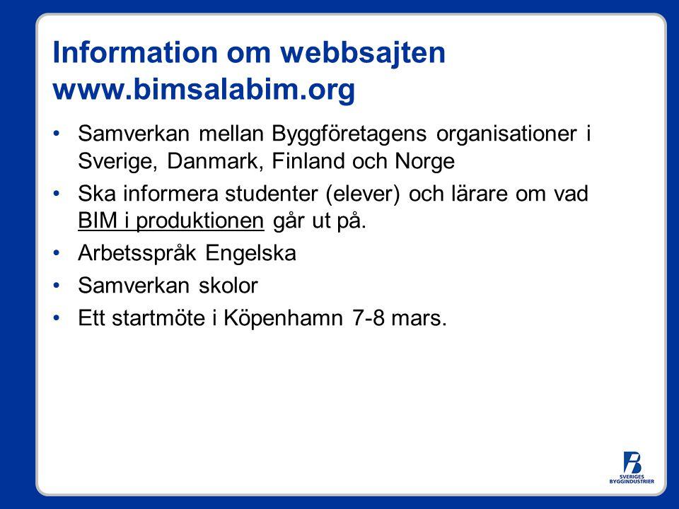 Information om webbsajten www.bimsalabim.org