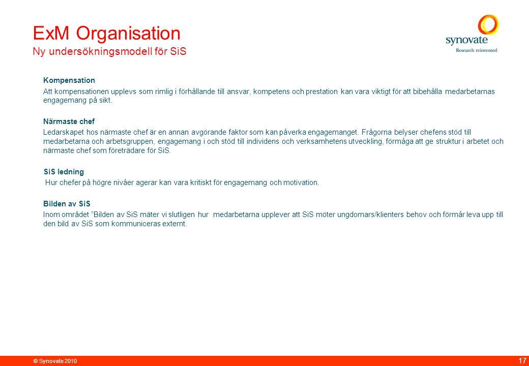 ExM Organisation Ny undersökningsmodell för SiS Kompensation