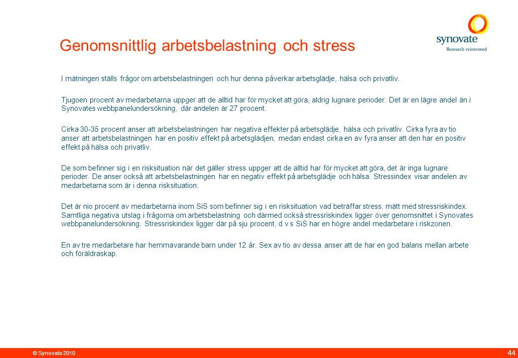 Genomsnittlig arbetsbelastning och stress