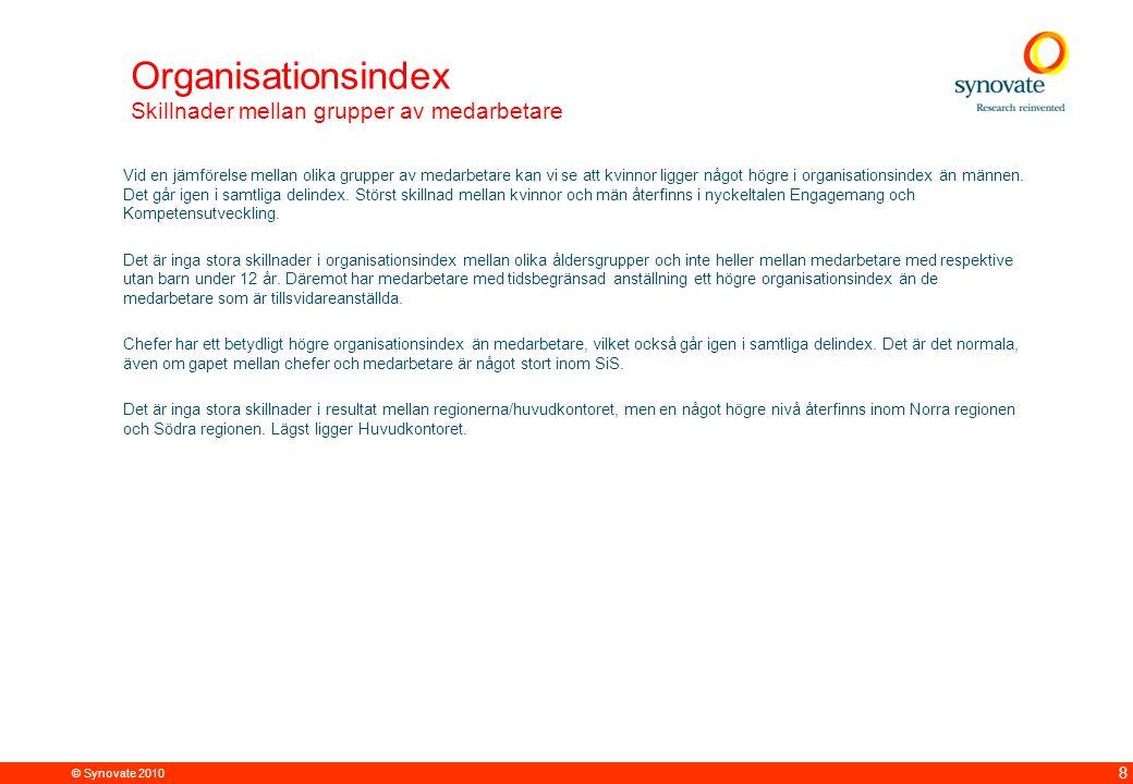 Organisationsindex Skillnader mellan grupper av medarbetare