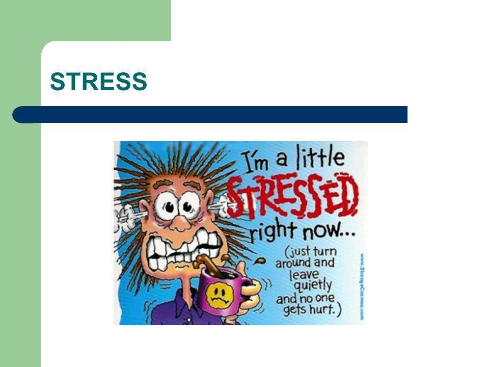 STRESS Vad kan ni sedan tidigare Vad är stress Symtom