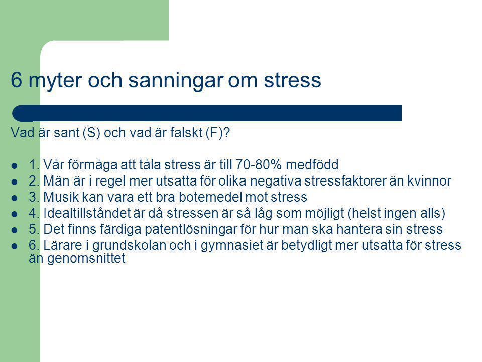 6 myter och sanningar om stress