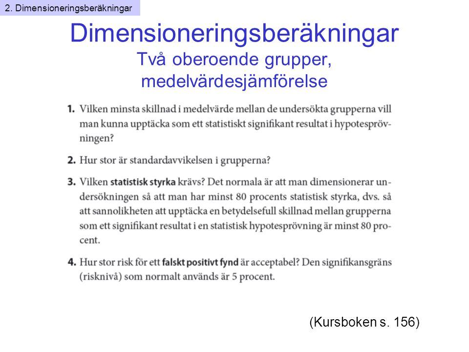 2. Dimensioneringsberäkningar