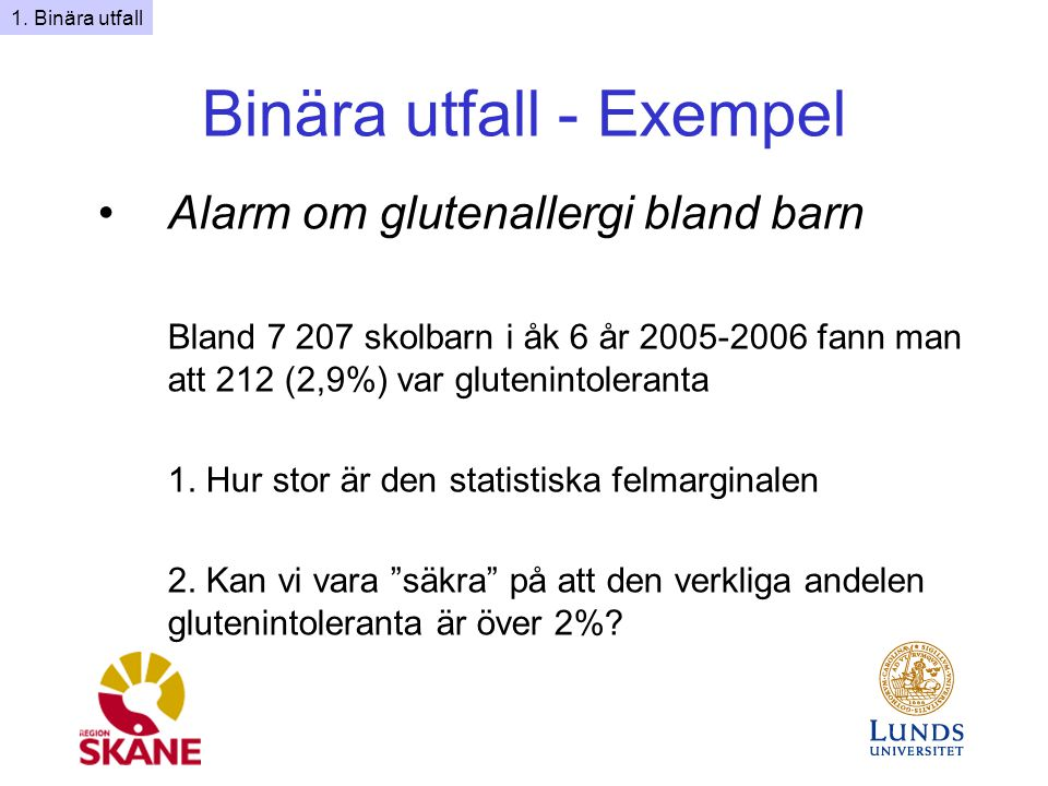 Binära utfall - Exempel