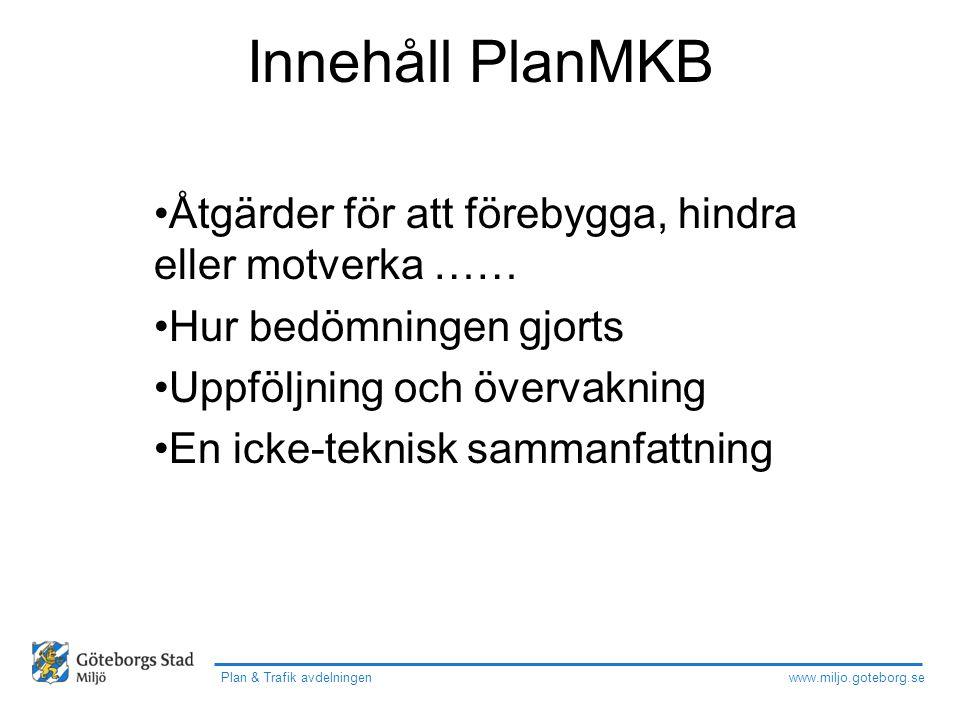 Plan & Trafik avdelningen