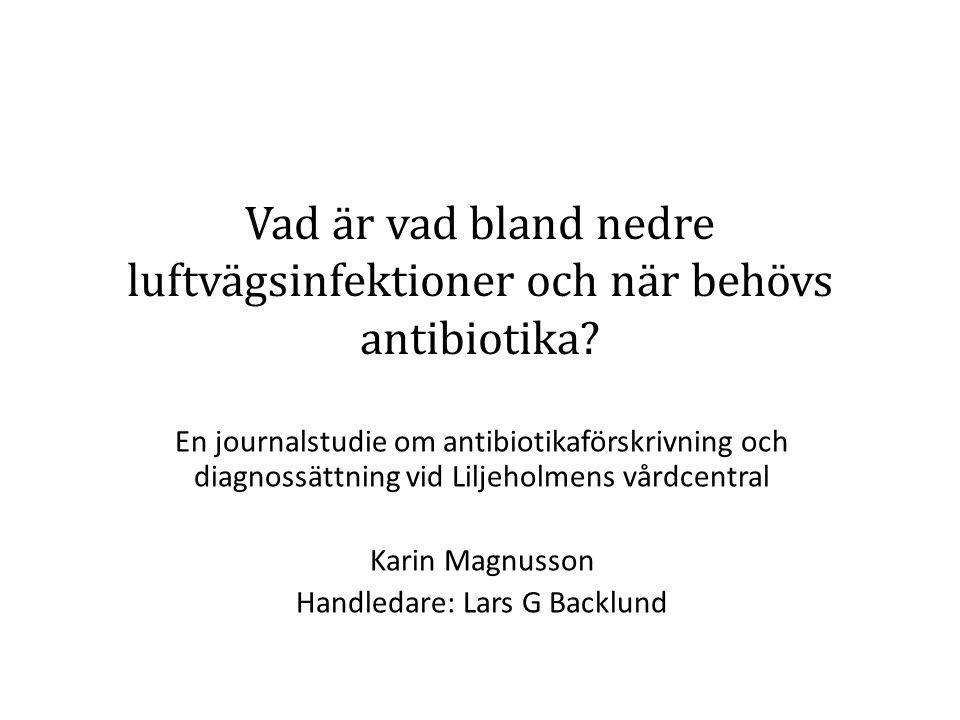Vad är vad bland nedre luftvägsinfektioner och när behövs antibiotika