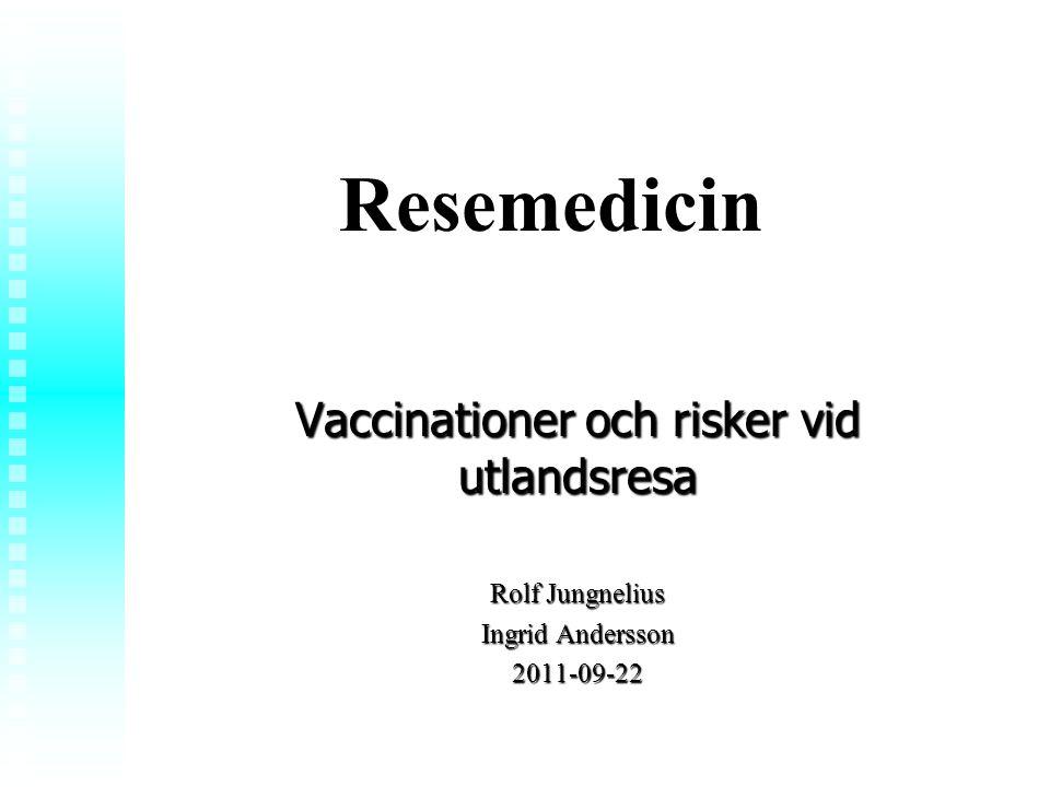 Vaccinationer och risker vid utlandsresa