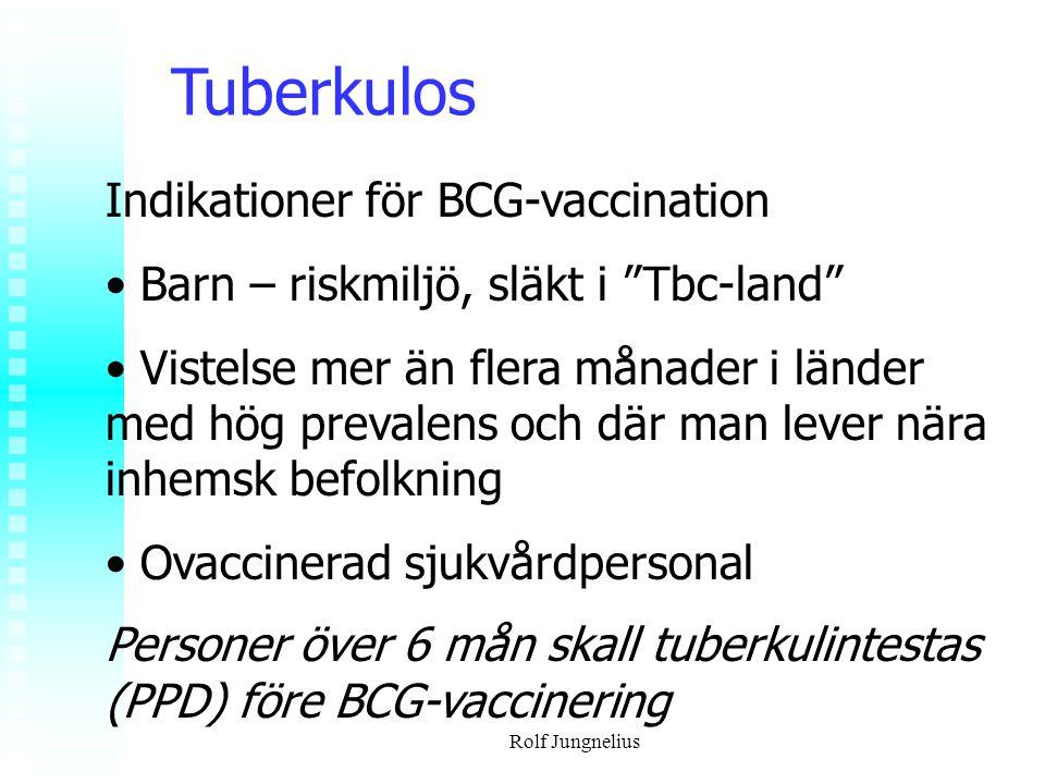 Tuberkulos Indikationer för BCG-vaccination