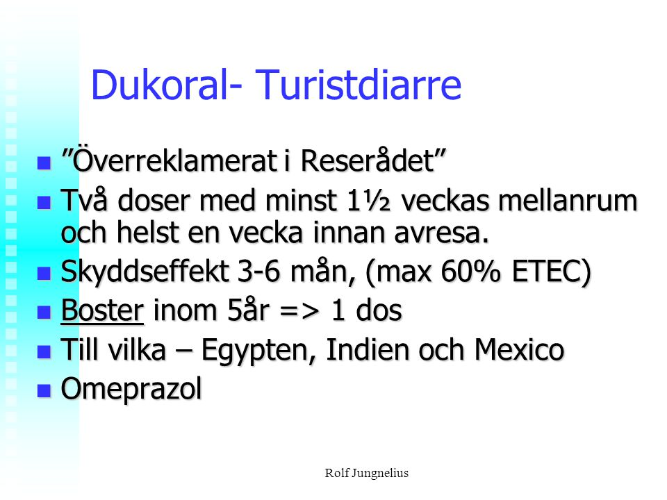 Dukoral- Turistdiarre