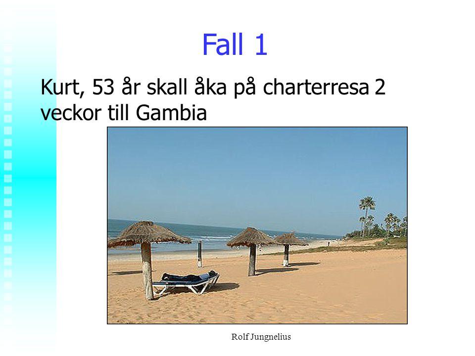 Fall 1 Kurt, 53 år skall åka på charterresa 2 veckor till Gambia